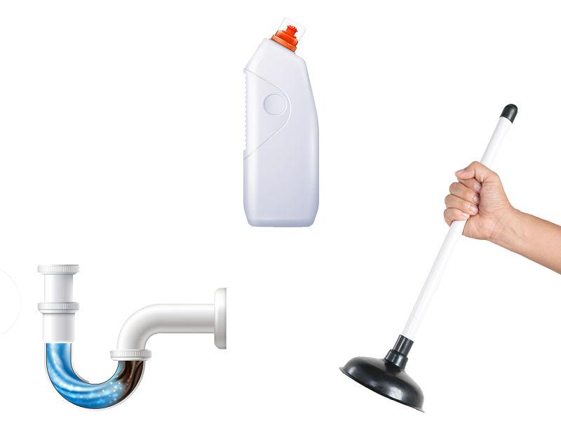 Produto e equipamento para desentupir vaso sanitário