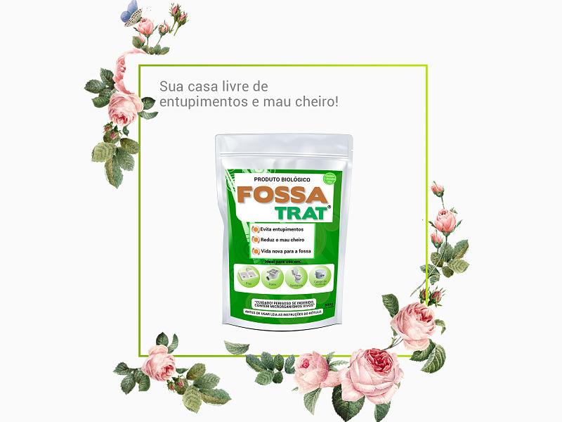 Imagem do produto fossa trat com moldura envolto por rosas